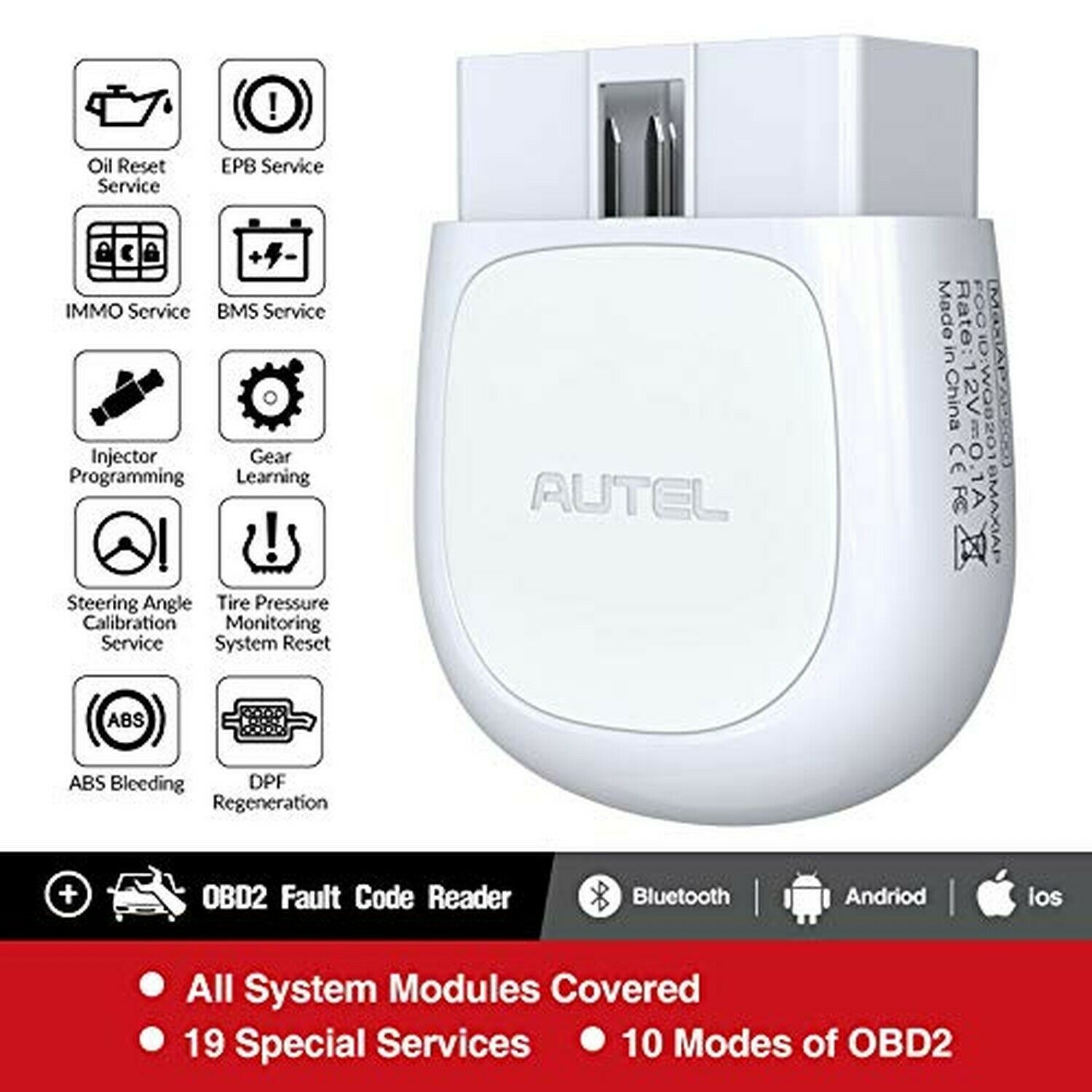 Autel AP200 Bluetooth Connector OBD2 Scanner OBD 2 Code Reader Full Systems Diagnoses AutoVIN TPMS IMMO Service PK MX808 Mk808|Code Readers & Scan Tools| - AliExpress