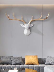 Image 2 - [MGT] Nordic Lucky Deer Head Wallแขวนสร้างสรรค์กวางกวางจี้ห้องนั่งเล่นห้องรับประทานอาหารพื้นหลังตกแต่ง