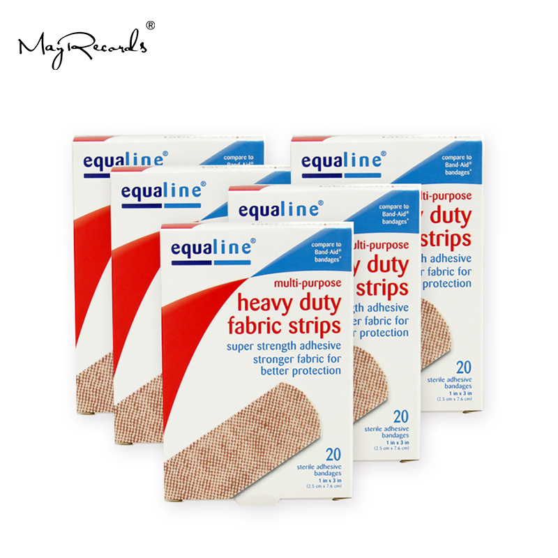 Free Shipping Breathable 60PCs/3Boxes 2.5cmX7.6cm Super Strength Sterile Adhesive Bandages First Aid Hemostasis Band Aid