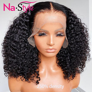 Pixie Cut Lace Wig Preplucked Blunt Cut Bob Lace Front Wigs Short Human Hair Wigs 150 250 Curly 13x4 Lace Front Human Hair Wigs(China)