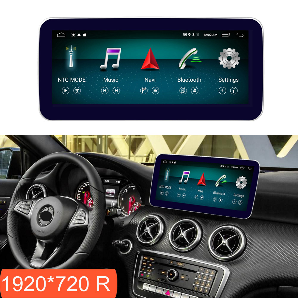 10.25 polegada 4 + 64g android display para mercedes benz cla gla tela de rádio do carro navegação gps bluetooth head up touch screen