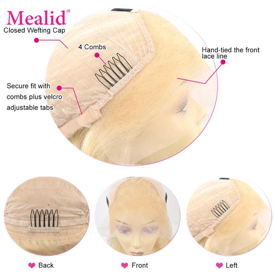 Sin pegamento, pelucas frontales de encaje Rubio 613, pelucas de cabello humano Remy brasileño liso con encaje frontal, pelucas de cabello humano 13x4 pre-arrancadas con pelo de bebé 150%