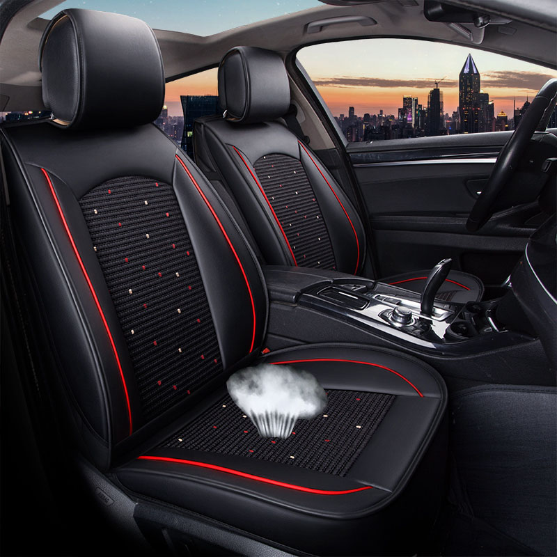 Car Seat Cover PU Leather Vehicle Seat Protector Auto for Mercedes Benz M Class <font><b>Ml</b></font> <font><b>350</b></font> Ml320 <font><b>W163</b></font> W164 W166 Gle Gle43 Gle63 image