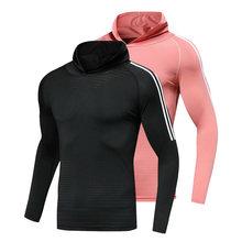 T-Shirt de Fitness pour hommes T-Shirt de musculation mince Compression Muscle automne T-shirt d'entraînement décontracté pour hommes T-shirt de course