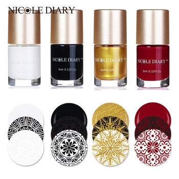 NICOLE DIARY Stamp Nail Polish Stamping Polish Nail Art Stamping Nail Lacquer for Nail DIY Stamping Plate Tools