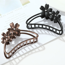Big flower Hair Claws for Women fashion Metal Hairpin Crab Girls Large Size Claw Clips Accessories
