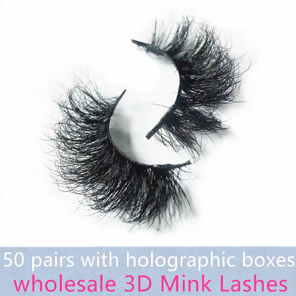 Morwalendi 3D mink Lashes 50 pairs fluffy Mink lashes wholesale eyelashes Crisscross lashes cilios False Eyelashes for makeup