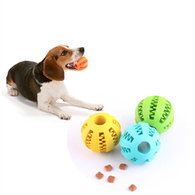 Pet Sof Dog Toys Funny Interactive Elasticity Ball Dog Chew Dog Toy Tooth Clean Food Bullet Of Food Extra-Tough Rubber Ball цена и фото