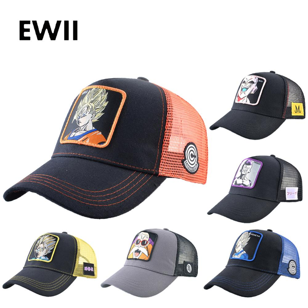 New Summer Baseball Cap Men Full Snapback Hat Goku Women Dragon Ball Trucker Caps Hip Hop Dad Hat Mesh Bone Masculino