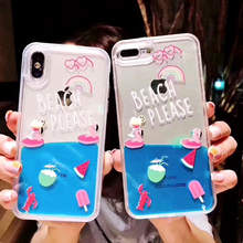 Luxury Flamingo Quicksand Phone Case For iphone 11Pro MAX Case XS MAX SE XR X 6 7 8 Plus Glitter Dynamic Liquid Protective Cover