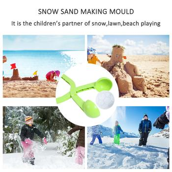 Winter Outdoor Snowball Maker Clamp Sand Ball Clip Mold Tool Kids Sports Toy Parent-child Outdoor Interactive Game For Kids Gift image
