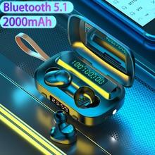 2020 New Arrival Wireless Headphones TWS Bluetooth 5.1 Earphones 2000mAh Charging 9D Stereo Sports W