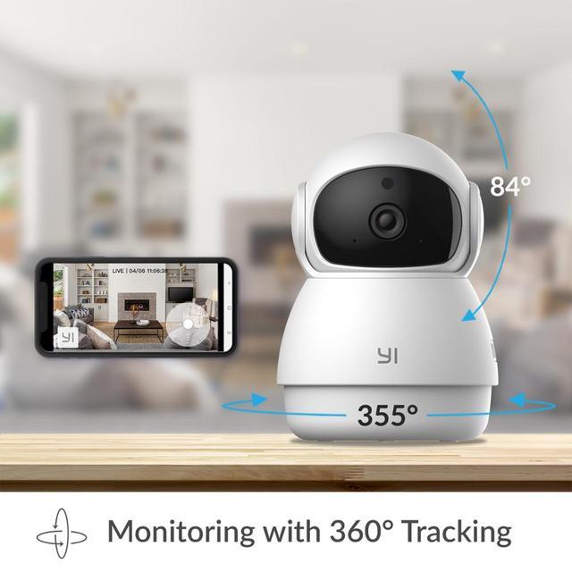 YI Dome Guard Camera 1080p Wifi Camera Human Pet AI Webcam Ip Camera Security Home Indoor Cam Pan & Tilt 360 video recorder cam 2