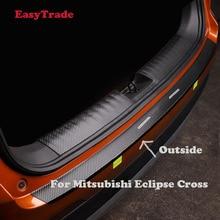 Car Rear Door Sill Plate Protector Anti-Scuff Trunk outside door sill sticker For Mitsubishi Eclipse cross interior Accessories недорого