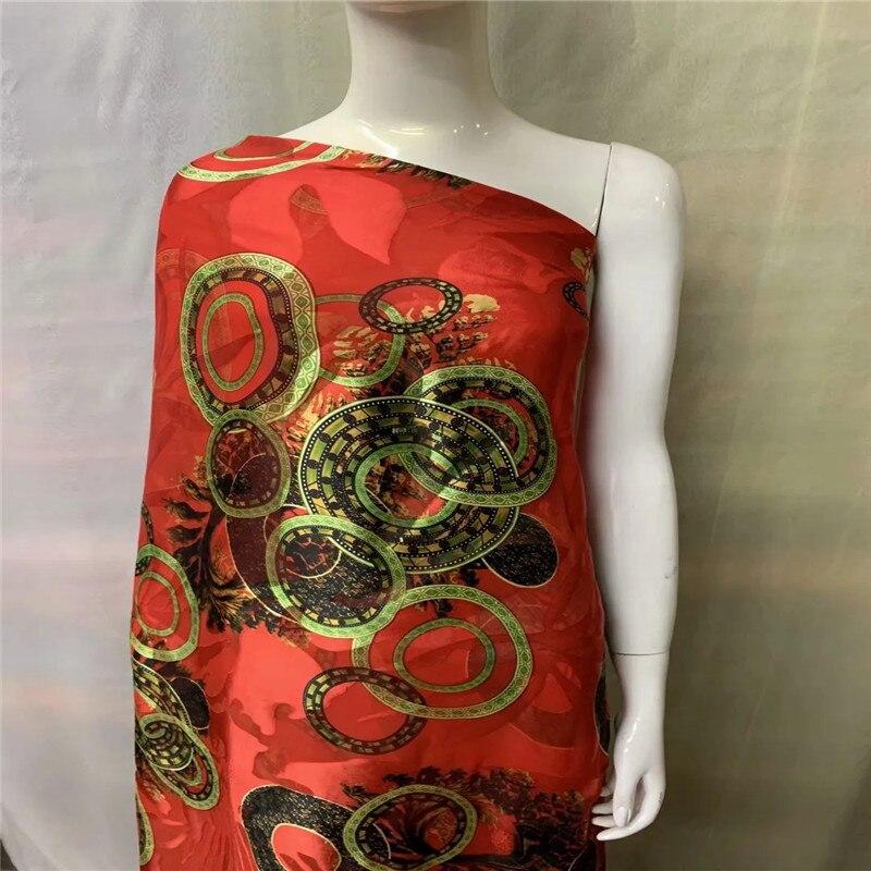 tecido de veludo de seda africano boa