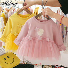 Melario Sequin Baby Dresses Autumn New Baby Girls Clothes Lo