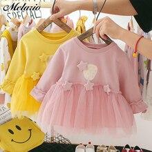 Melario Sequin Baby Dresses Autumn New Baby Girls Clothes Lo