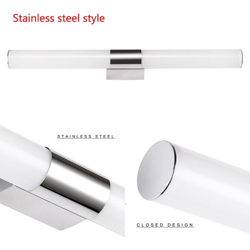 12/16/22W Mirror light Stainless steel & aluminum Modern LED Light Bathroom living room home hotel Wall Toilet lamp ZJQ0014 4
