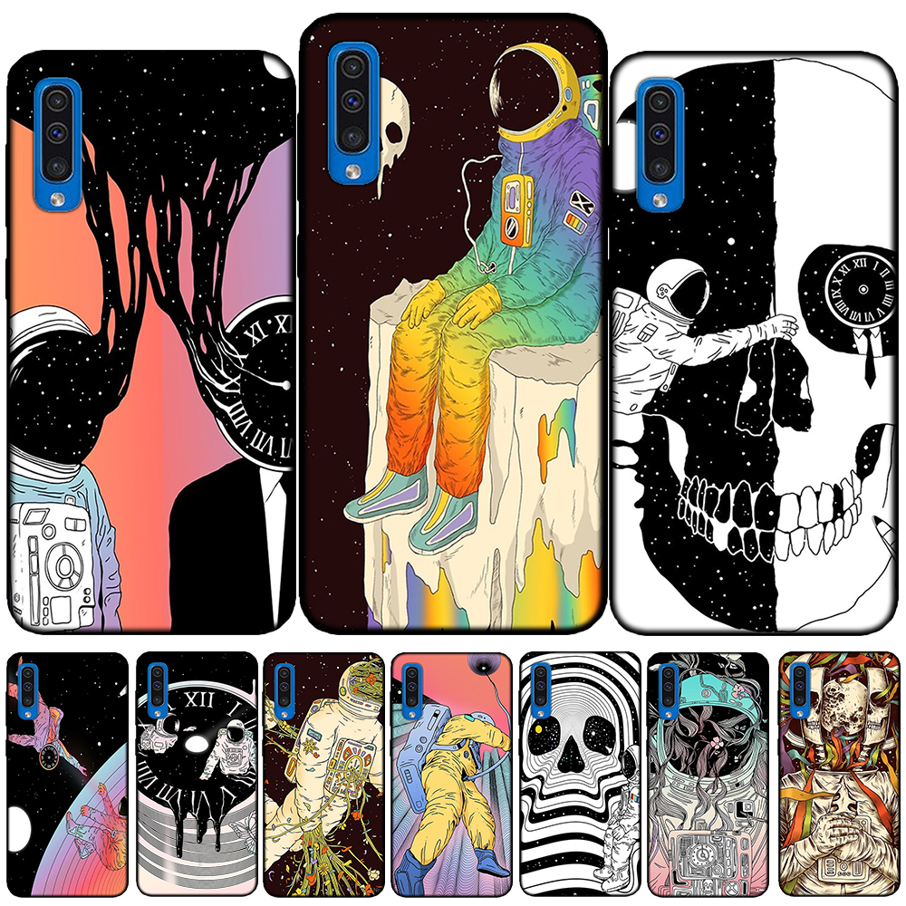 <font><b>Funny</b></font> Art Spaceman Planet Silicone <font><b>Case</b></font> Cover For <font><b>Samsung</b></font> Galaxy A51 A71 A6 Plus A8 Plus A7 A9 2018 A10 <font><b>A20</b></font> A30 A40 A50 A60 A70 image