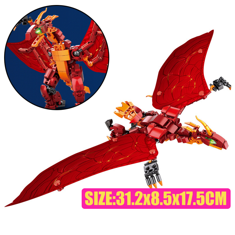 Sluban M38-B0783/B0785/B0786 King of The Monsters Godzilla Ghidorah Rodan Building Blocks 37