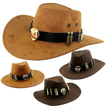 Solid Color Cowboy Hat Bomb Badge Sun Hat Creative Anime Periphery McRae Knight Hat Western Cowboy Overwatch Flat Hat(China)