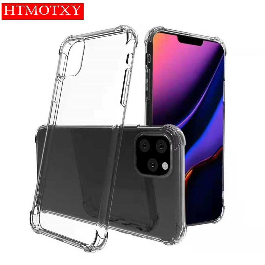 Schokbestendig Airbag Case Voor Iphone 11 Transparant Siliconen Cover Voor Iphone Xr X Xs 11 Pro Max 7 8 6 6S Plus Tpu Phone Case Clear