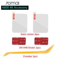 Für Neue 70mai 4K Dash Cam A800 Zubehör Set Statische Aufkleber 3M Film und Statische Aufkleber Geeignet für 70 mai Auto DVR 3M film halten