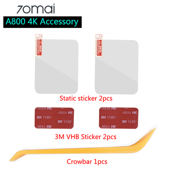 For New 70mai 4K Dash Cam A800 Accessory Set Static Sticker 3M Film and Static Stickers Suitable for 70 mai Car DVR 3M film hold image