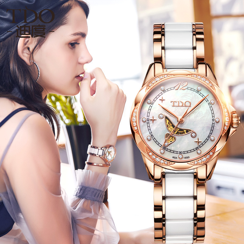 watch manufacturer is designed for Japanese fully automatic mechanical watch fashion lady watch waterproof watch