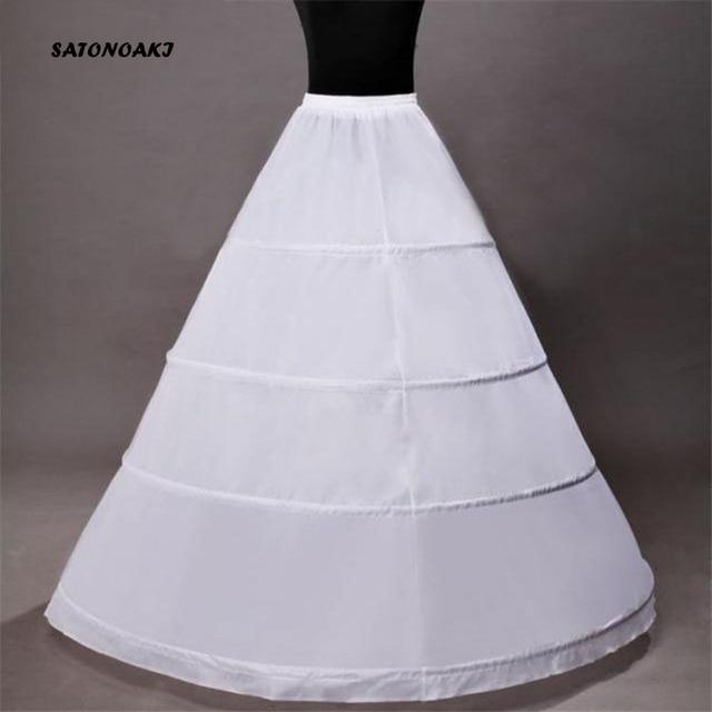 High Quality Ball Gown Wedding Petticoat 4 Hoops Crinoline Slip Underskirt For Women Bridal Puffy Skirt Accessories Sottogonna