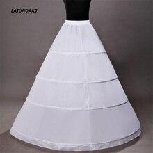 คุณภาพสูงชุดบอลชุดแต่งงานPetticoat 4 Hoops Crinoline Slip Underskirtสำหรับเจ้าสาวกระโปรงPuffyอุปกรณ์เสริมSottogonna