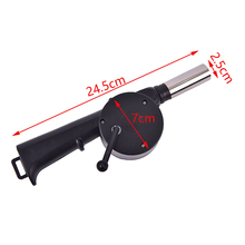 BBQ Fan Hand-Crank-Tool Air-Blower Barbecue-Fire-Bellows Outdoor Cooking Camping Picnic