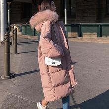 ארוך חורף מעיל נשים Parka Loose חם עבה למטה כותנה מעיל נשי מרופד Oversize תלמיד ברדס אישה חורף מעיל Q2028