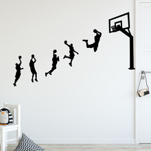 New basketball game Wall Stickers Personalized Creative For Kids Rooms Diy Home Decoration Art Decor Wallpaper LW413