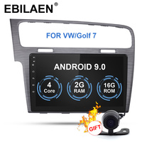 EBILAEN автомобильный Радио мультимедийный плеер для Фольксваген Гольф 7 2Din Android 9 автомобильное радио с GPS навигационная лента рекордер головн...