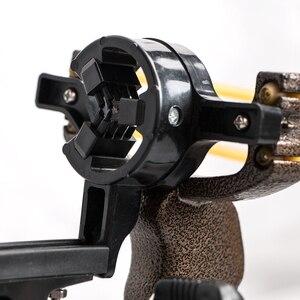Image 4 - למבוגרים עוצמה יעד ירי הקלע עם מתקפל יד בליסטרא מקצועי האנטר ציד דיג קלע Shot