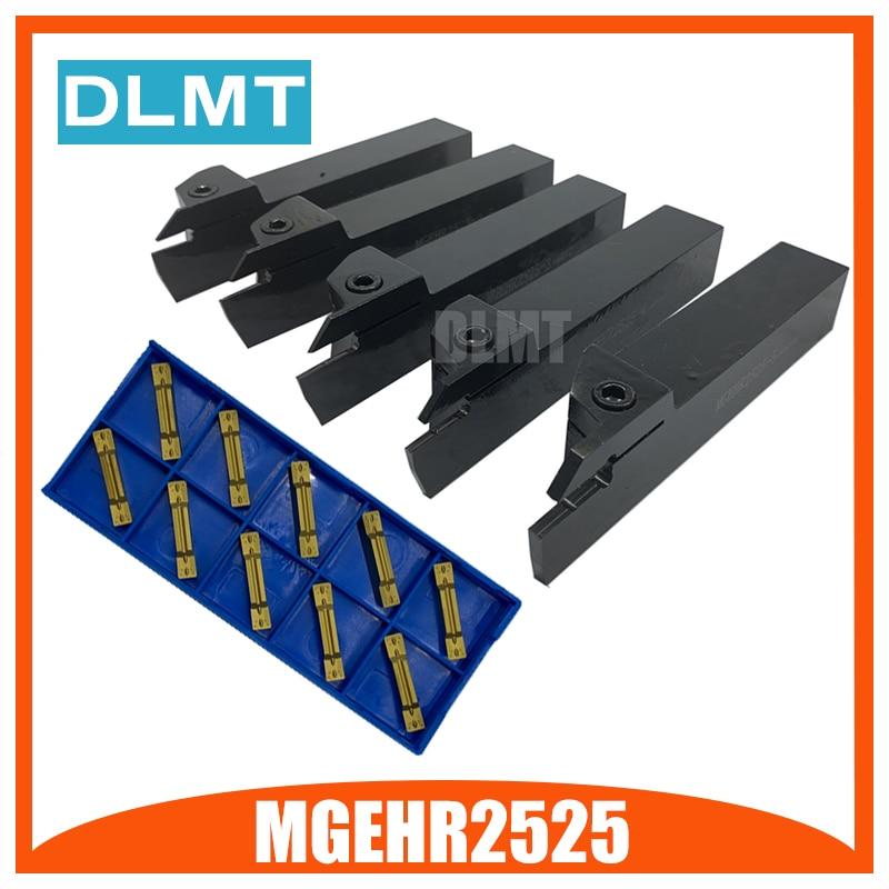 MGEHR/L2525-1.5 2 2.5 MGEHR2525-3 MGEHR2525-4 MGEHR2525-5 Tool Holder Set External Grooving Turning Lathe Bar