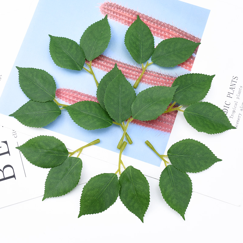 10/30 Pieces Flores Artificiales Silk Leaf Fake Plants Flowers For Scrapbooking Wedding Bridal Accessories Clearance Home Decor