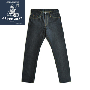 Image 5 - SauceZhan 316XX Casual  Selvedge Jeans Raw Denim Jeans Unwashed  Selvage Indigo Denim Jeans Straight  Mens Jeans