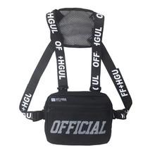 Streetwear Men Bag Tactical Vest Hip Hop Style Crossboby Chest Bags Packs for Women 2021 Fashion Letter Chest Rig Vest Waist Bag