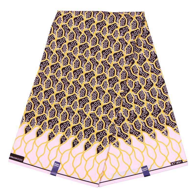 Pink African Veritable Wax Ankara Nigerian Tissus Guaranteed Real Dutch Wax Block Print Fabric For Black Women Free Shipping