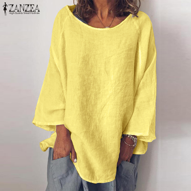 Long Sleeve Solid Blouse 3