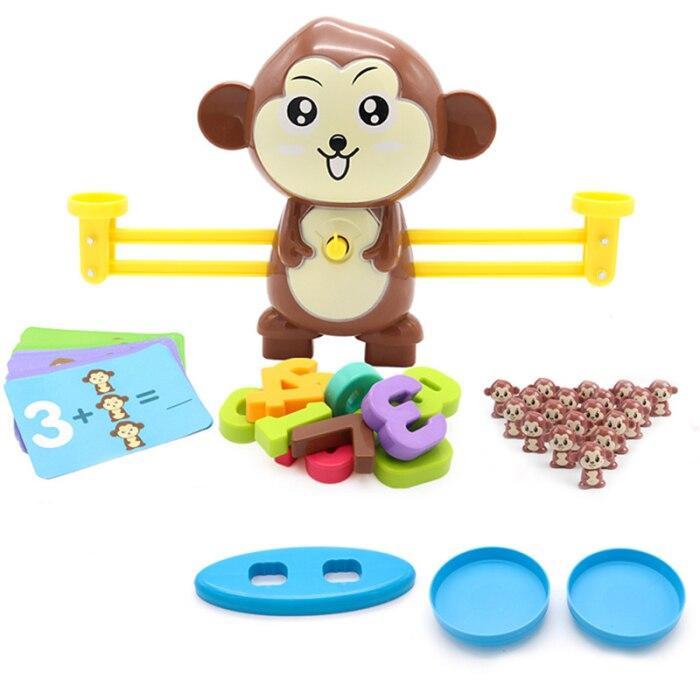 dos desenhos animados macaco inteligência educação precoce brinquedo