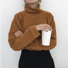 2020 Turtleneck Knitted Jumpers For Women Sweater Casual Loose Long Sleeve Crocheted Pullovers Harajuku Jumper Sueter Mujer Pull(China)