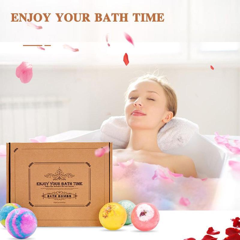 6/9/12 pcs(1 pcs 60g) Bath Bomb Skin Whitening Bath Salt Body Moisturizing Bath Bombs Ball Natural Bubble Bath Salt Ball Gift Se 3