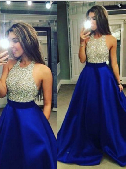 2019 New Style Banquet Formal Dress Halter Sexy Monopoly AliExpress Marriage Host Formal Dress Bridesmaid