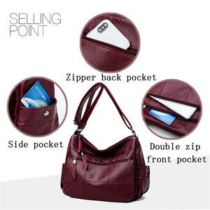 Image 5 - ホット高級ハンドバッグの女性のデザイナーソフト本革レディースハンドバッグ女性のためのクロスボディバッグ 2020 メッセンジャーバッグメイン