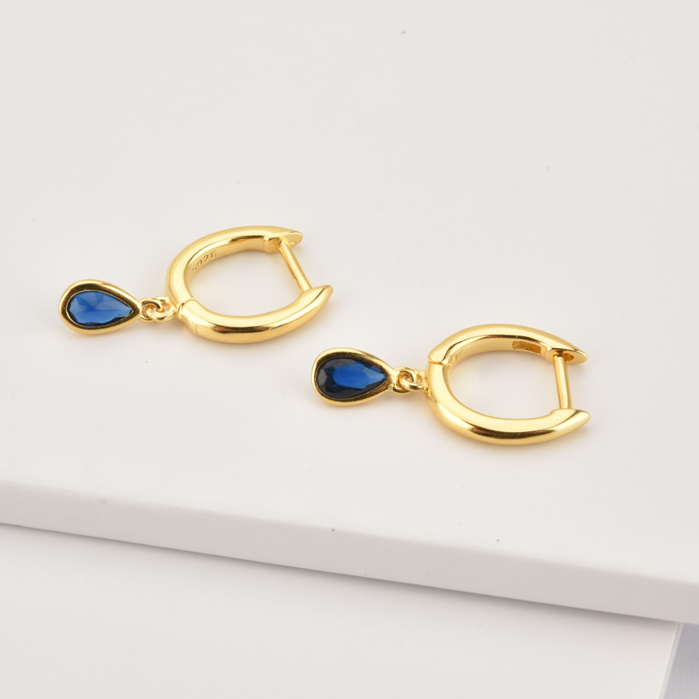 ANDYWEN 925 Sterling Silver Small Bamboo Pendiente Earring Circle Drop Oval Colorful Rainbow Luxury Jewelry For European Jewelry
