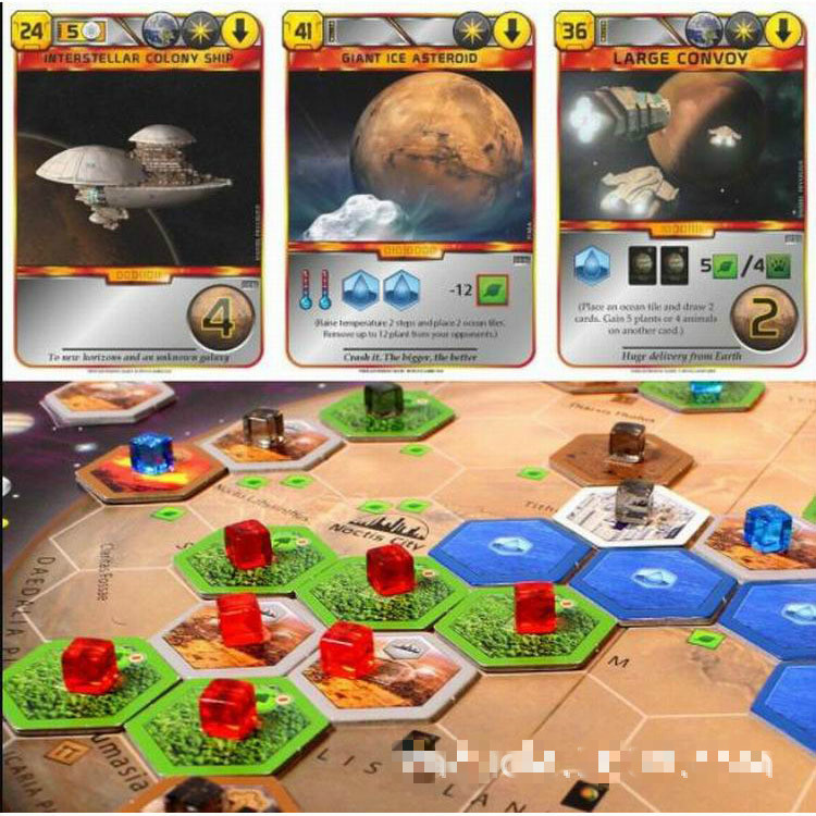 Puzzle Terraforming Board Game Family Party Best Gift Family Party Funny Gadgets Novelty Toys