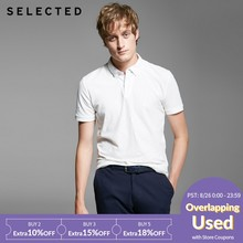 Selected Men's Double Tapered Knitted Polo Shirt T - Shirt SH | 416206003(China)